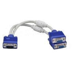 Cáp chia VGA 1 cổng ra 2 cổng (Trắng – Xanh)