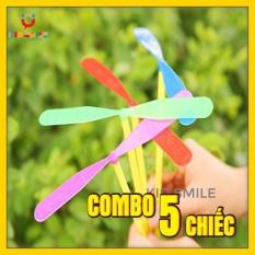 Đồ chơi combo 5 chiếc chong chóng tuổi thơ, đồ chơi vận động cho trẻ phát triển kỹ năng khéo léo của đôi tay và vui chơi thư giãn
