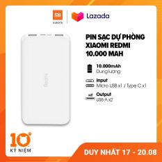 [MUA 2 GIẢM 10K – FREESHIP] Sạc dự phòng Xiaomi Redmi 10.000mAh l Input: Micro USB, Type-C / Output: USB-A x2 l HÀNG CHÍNH HÃNG