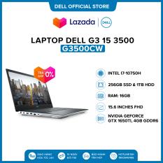 [VOUCHER 500K] Laptop Dell G3 15 3500 15.6 inches FHD (Intel / i7-10750H / 16GB / 1TB HDD & 256GB SSD / NVIDIA GeForce GTX 1650Ti, 4GB GDDR6 / Win 10 Home SL) l White l G3500Cw (P89F002) l HÀNG CHÍNH HÃNG