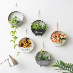 Giỏ hoa treo tường siêu đẹp trang trí nhà cửa nội thất cao cấp – Chậu hoa để bàn độc đáo