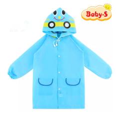 Áo mưa trẻ em xuất Nhật cho bé 2-7 tuổi chất poly dày dặn không thấm nước hình thú vui nhộn đủ màu sắc xinh xắn Baby-S– SAM001