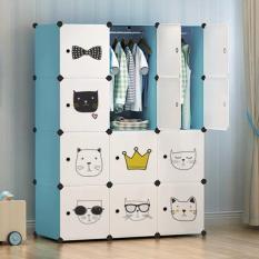 [HCM]tủ nhựa quần áo tủ nhựa ghép tủ nhựa chắc chắn 12 ngăn y như hình chịu được 15kg mỗi ngăn TẶNG KÈM PHỤ KIỆN GHÉP TỦ ĐẦY ĐỦ
