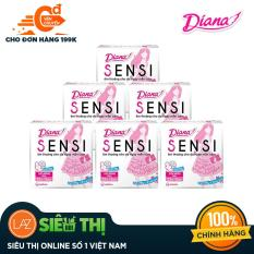 [Siêu thị Lazada] – Bộ 6 gói Băng vệ sinh Diana SENSI siêu mỏng cánh Gói 8 miếng