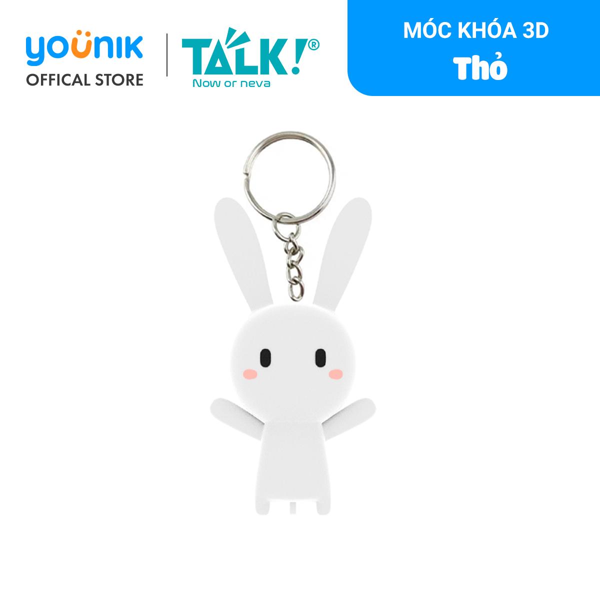 Móc Khóa 3D – Thỏ – Thỏ Bảy Màu – Talk