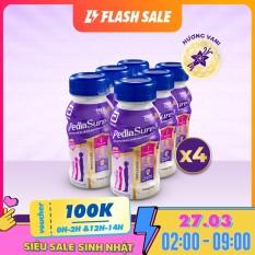 Thùng 24 chai sữa nước Pediasure Vanilla 237ml Dành cho trẻ biếng ăn từ 2 đến 10 tuổi Bổ sung dinh dưỡng Tăng cường hệ miễn Dịch Hương vị thơm ngon