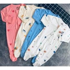 Body suit dài liền tất cho bé sơ sinh mềm mịn cao cấp (3-15kg)