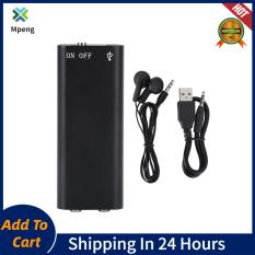 【Hot sale】Máy Ghi Âm Mini Kỹ Thuật Số 8GB Thiết Bị Ghi Âm Máy Nghe Nhạc MP3 Đĩa Flash USB