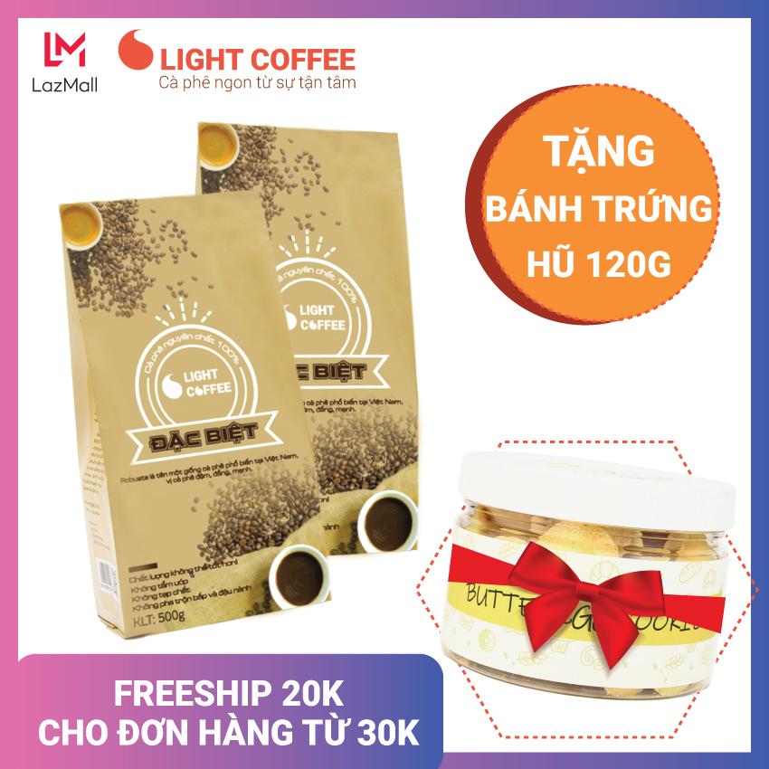[TẶNG BÁNH TRỨNG] 1KG CÀ PHÊ HẠT Light coffee Đặc biệt, đậm , đắng , mạnh , không tạp chất...