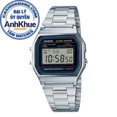 Đồng hồ unisex dây kim loại Casio Standard Anh Khuê A158WA-1DF
