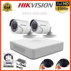 Bộ 2 Măt Camera Quan Sát Hikvision 2.0MP Full HD – Bộ Camera Giám Sát Hikvision