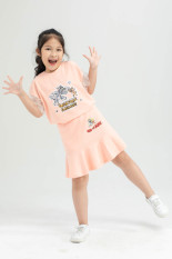 Áo thun (kèm chân váy) Tom&Jerry bé gái IVY moda MS 57G1270