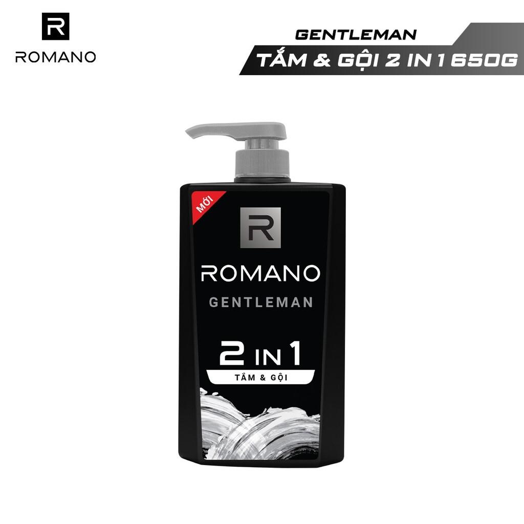 Tắm gội 2 trong 1 Romano Gentleman 650g