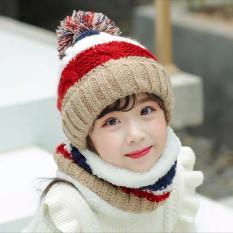 phụ kiện cho bé:bộ khăn-mũ len lông cừu,bé 3-10t(MTqAD,5.E2.AB0)