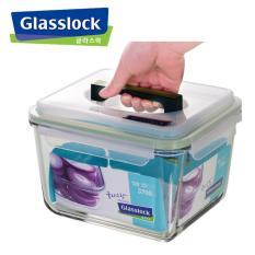 Hộp thủy tinh hình chữ nhật GLASSLOCK 3700ML, Hộp thủy tinh bảo quản thực phẩm, Hộp thủy tinh có quai xách, Hộp thủy tinh chịu nhiệt sử dụng được trong lò vi sóng, máy rửa chén và tủ lạnh