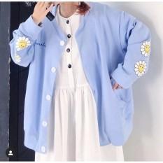 [FREESHIP] Áo Khoác Cardigan, Sweater, Jacket Nữ Chất PE mềm 3 Màu Xanh nhạt, xanh đậm,vàng Unisex Form Rộng