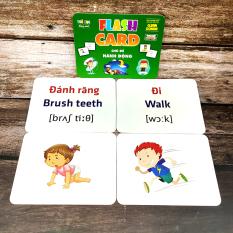 Thẻ Flash Card Chủ Đề Hành Động, Flashcard Học Tập Cho Bé