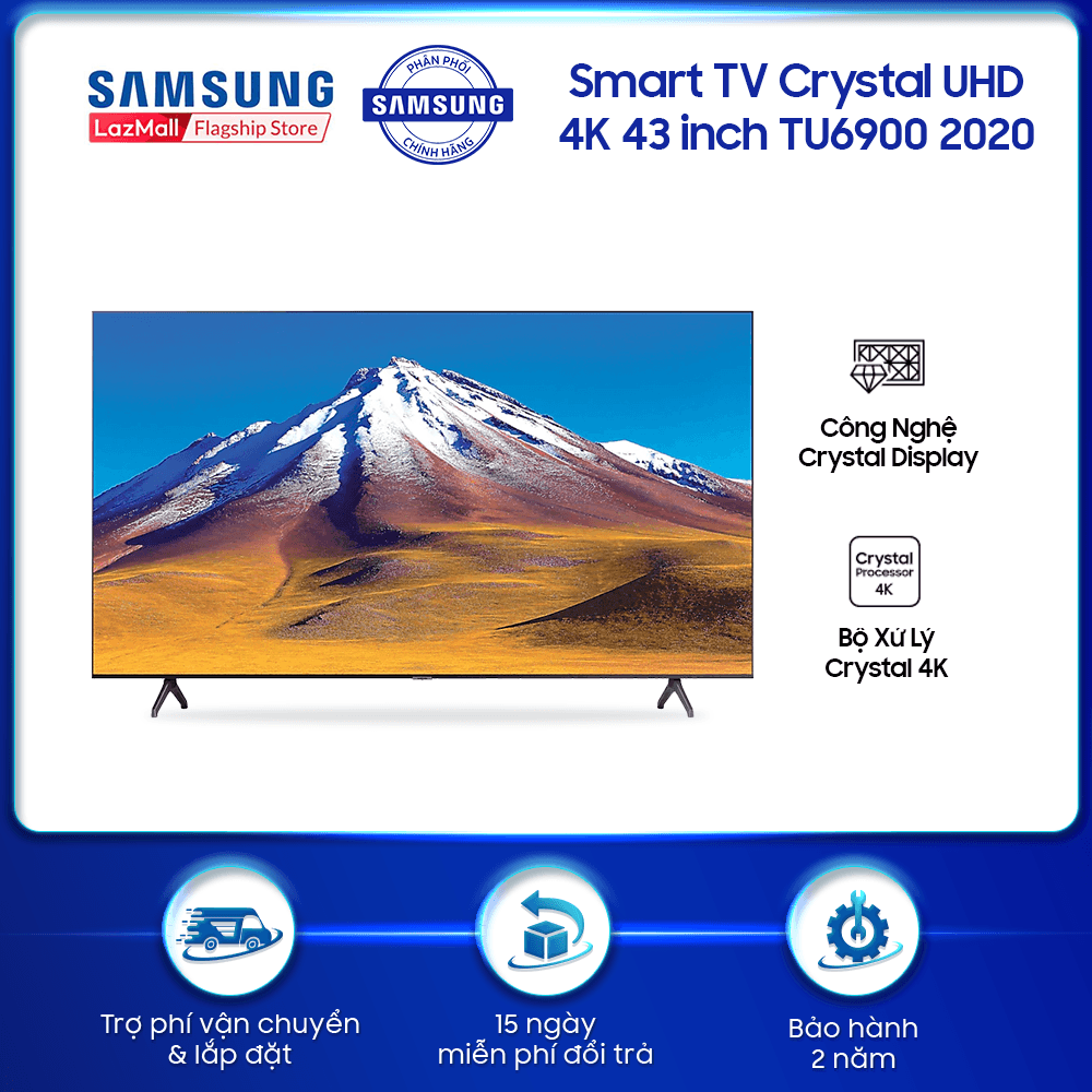 Smart TV Samsung Crystal UHD 4K 43 inch TU6900 2020 – TV