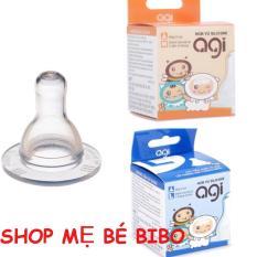 [HCM]Combo 5 Núm Vú Agi , Ty Thay Bình Sữa Cổ Nhỏ ( đủ size S/M/L )