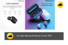 Baseus W01 TWS Bluetooth 5.0 Tai Nghe Không Dây Bluetooth Bass Không Dây Tai nghe nhét tai có Micro Cho Điện Thoại