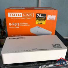 Bộ chia mạng Totolink S808 – Switch 8 cổng 10/100Mbps – Hàng chính hãng ( Bảo Hành 24T )