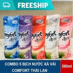 Combo 5 bịch nước xả vải Comfort Thái Lan bịch 580ml
