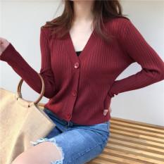 Áo len cardigan dài tay form rộng màu trơn thời trang nữ – ALC001