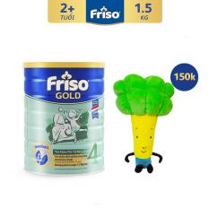 [Freeship toàn quốc] Sữa bột Friso Gold 4 1.5kg cho trẻ từ 2-4 tuổi – Tặng Gối ôm Bông Cải trị giá 150K