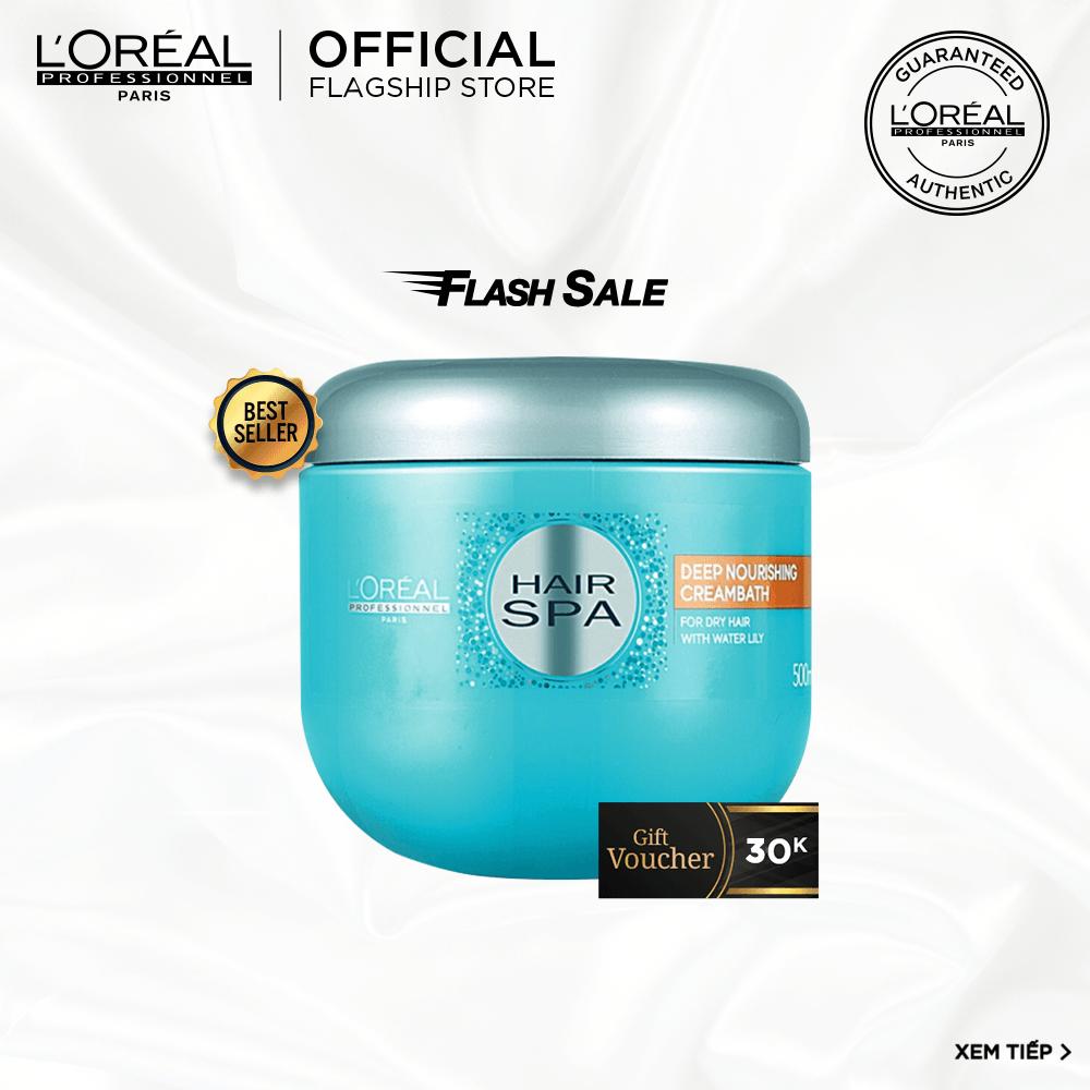 [Tặng Voucher 30k] Dầu hấp cấp ẩm cho tóc khô L'Oréal Professionnel Hair Spa 500ml