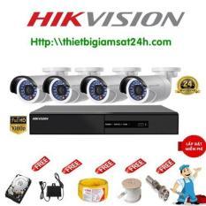 Trọn bộ Camera 16D0T-IR sắt   Đầu ghi 4 kênh 7204HQHI-K1