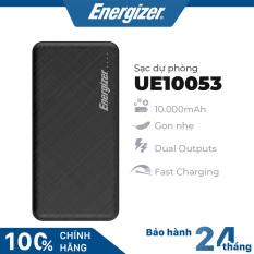 Sạc dự phòng Energizer UE10053 – Thiết kế vân nhám sang trọng, tích hợp 2 cổng outputs