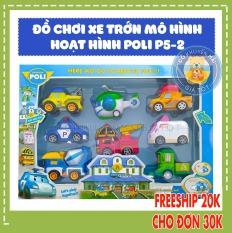 Xe ô tô đồ chơi cho bé chạy trớn mô hình nhân vật poli và những người bạn – Thị trấn đồ chơi