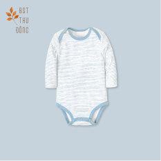 Bodysuit tay dài Sọc dày xanh – Miomio – Dành cho bé từ 0-24 tháng