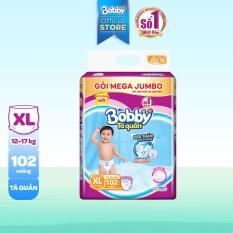 [GIÁ SỐC] Tã/bỉm quần Bobby gói Mega Jumbo XL102 (12-17kg) – Cam kết HSD còn ít nhất 10 tháng