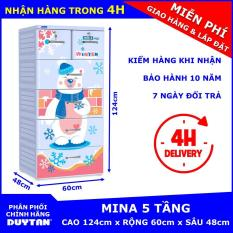 Tủ nhựa Duy Tân MINA 5 tầng (Dương) – Chất liệu nhựa cao cấp. Thiết kế trang nhã. Có 5 tầng tiện dụng