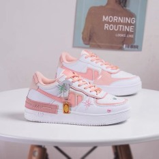 giày thể thao, giày sneaker nữ air hoa cúc gót 3 màu độn đế 3cm mẫu hot 2020, giày nữ tag hoa cúc da mềm thoáng khí cực kỳ năng động