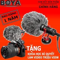 Micro Boya BY-MM1 thu âm cao cấp cho máy ảnh DSLR Action camera và Điện Thoại