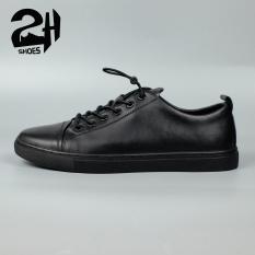 Giày nam snecker, thể thao da bò, phong cách hàn quốc 3 màu đen, xanh, trắng SHOES 2H 2H- 69