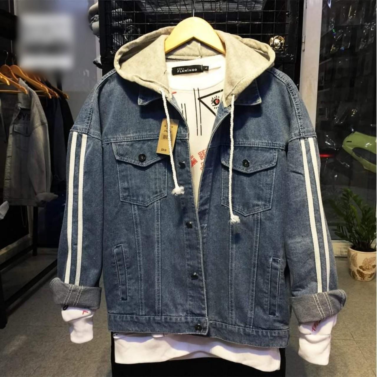 áo khoác Jean nam thời trang Angel cao cấp kiểu from rộng OT