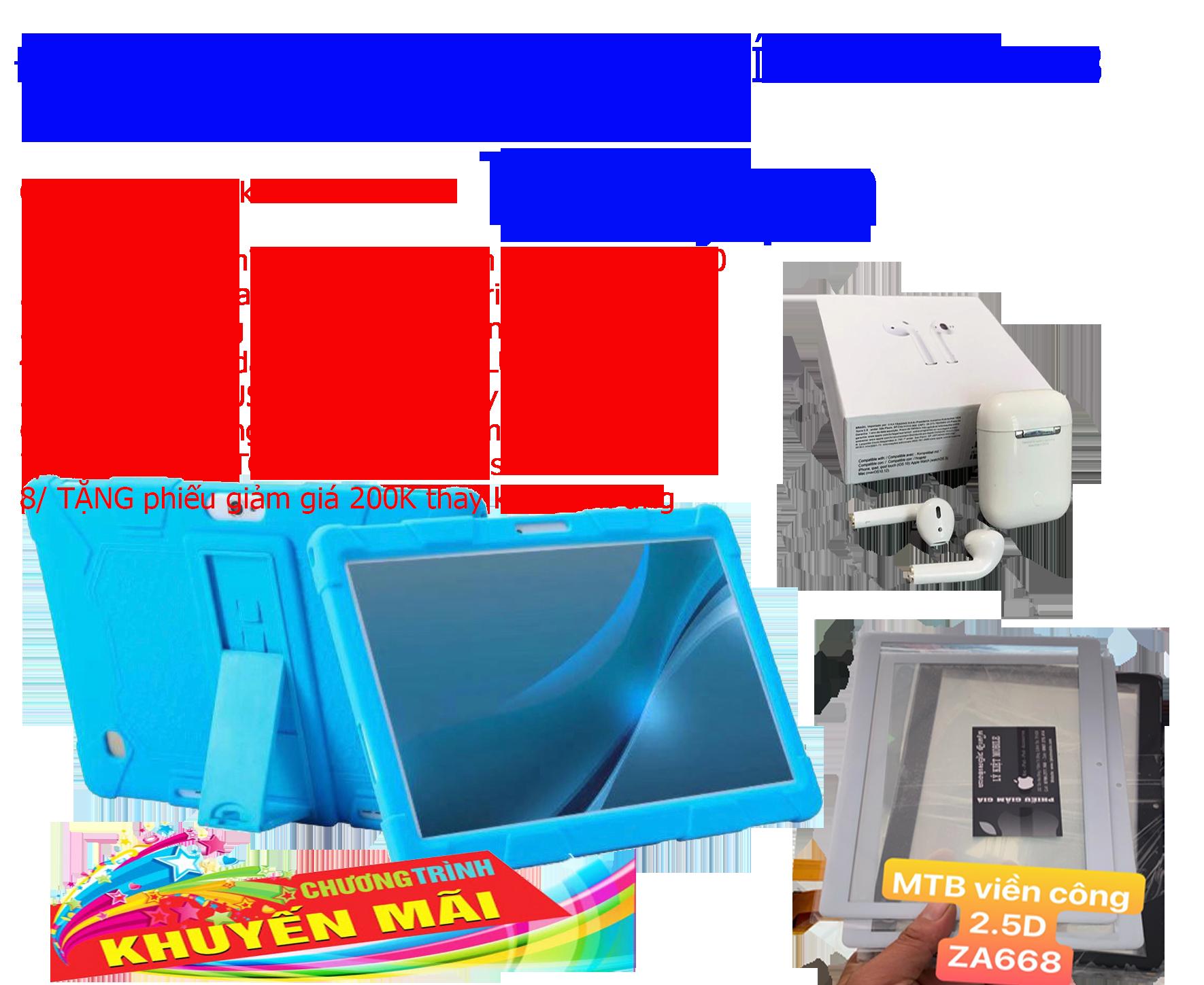 Máy tính bảng japan ZA668 phiên bản 2020 Ram 6G kèm tai nghe Blutooth Aripodr