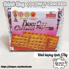 [Lấy mã giảm thêm 30%]Bánh quy COCONUT CRACKER JESSICA® 178g / Bánh quy dừa vuông bọc giấy bạc – Bánh Quy Vuông