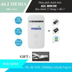 Bộ phát wifi di động từ sim 3G/4G ZTE MF65 – Tặng combo (tai nghe 85k)