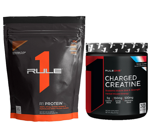 Combo tăng cân & sức mạnh Rule 1 Protein 1lb (16 servings) & Rule 1 Charged Creatine 30 servings