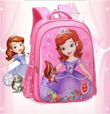 Cặp học sinh Elsa & Anna lớp 1 đến lớp 3 – Balo đi học siêu nhẹ mặt bóng chống thấm + Tặng dụng cụ học tập( Dáng đứng)