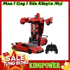 Đồ Chơi Xe Điều Khiển Biến Hình Robot 33A KINGPOWER – 2 Màu Cam Và Đỏ, Nhựa Cao Cấp Siêu Cứng, Chơi 2 Chế Độ, Biến Hình Robot Quay 360 độ – Đồ Chơi Ô Tô Biến Hình Robot, Đồ Chơi Xe Điều Khiển Từ Xa