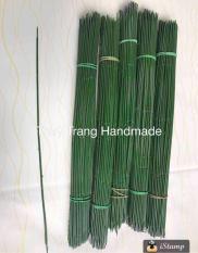 Cành thép bọc nhựa (uốn cong được) làm cành hoa giấy, hoa voan dài 30cm, 40cm