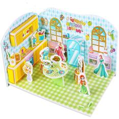 Mô hình xếp hình 3D bằng giấy Căn phòng của những nàng công chúa (mẫu 1)