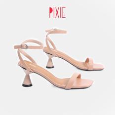 Giày Sandal Cao Gót 5cm Đế Tròn Đồng Hồ Cát Pixie X471