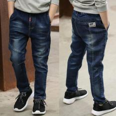 Quần jean dài dành cho bé trai chất liệu thoáng mát dễ chịu xu hướng đơn giản thời trang