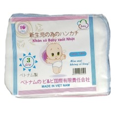 Khăn xô sữa xuất nhật loại 2 lớp, 3 lớp và 4 lớp ( set gồm 10 khăn)